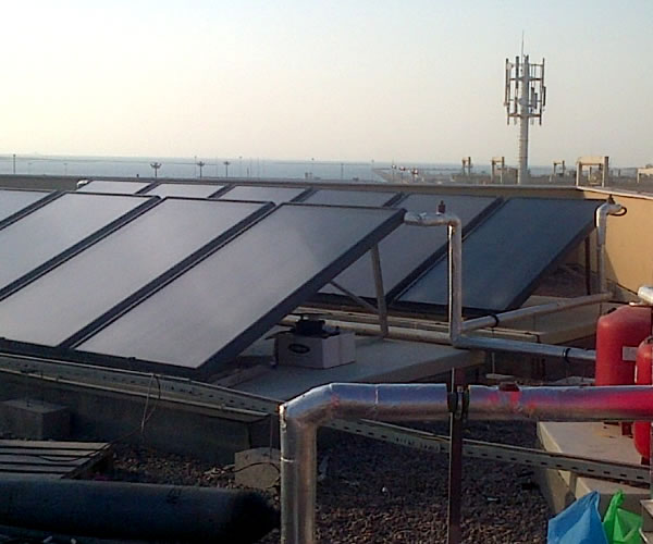 DP Jabel Ali Port Terminal - Solar water heating system