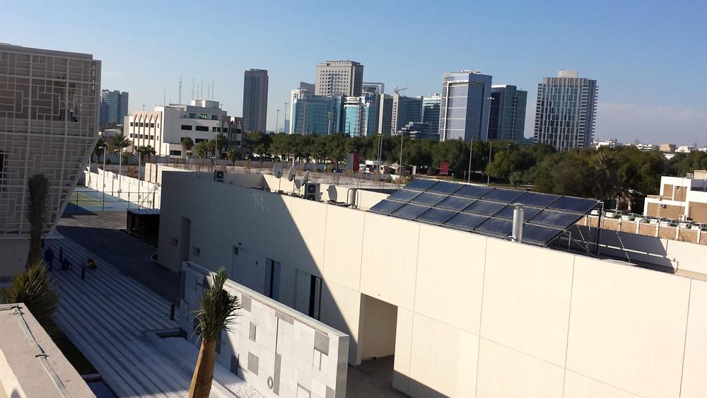 Central solar water heating system, Korean Embassy, Abu Dhabi