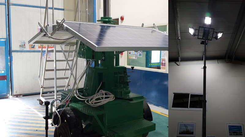 Site lighting by Solar Power